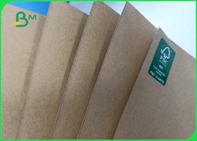 Width 70*100cm recycle pulp 110gsm - 220gsm kraft liner paper for packing