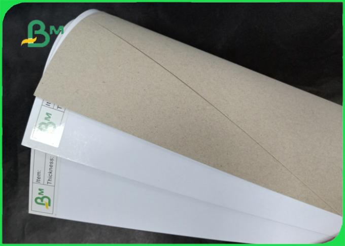 Width 80*110cm mixed pulp 200 - 450gsm Coated duplex board for packing box