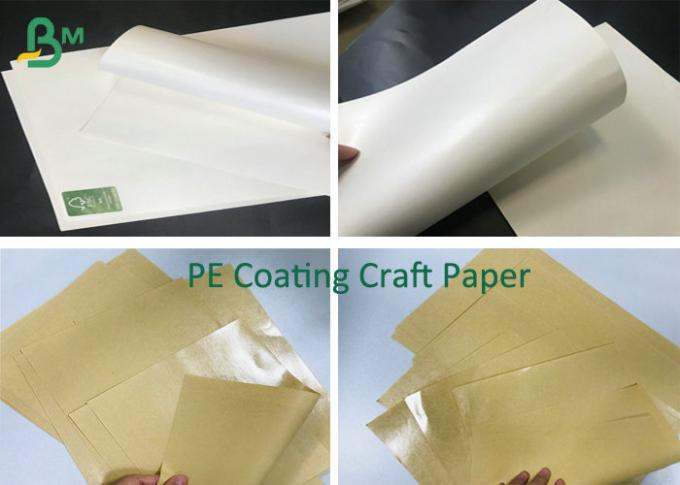 PE Coating Kraft Paper Roll Packaging Craft Paper Board 200G 300G + 15G Poly Film