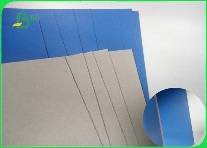 Blue Green Lacquered Solid Paperboard 1.3mm 1.5mm For Carton Box Certificates Storage Box